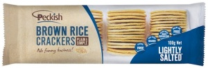 Peckish Brown Rice Crackers - Lightly Salted(1)